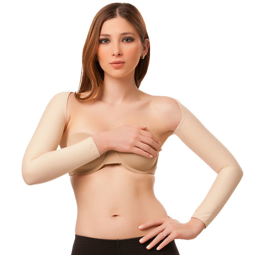 ISAVELA Long Sleeve Style Arm Cosmetic Surgery Compression (SL01-LS)-Arm Sleeve-Isavela-XS-Black-PlasticSurgeryShop