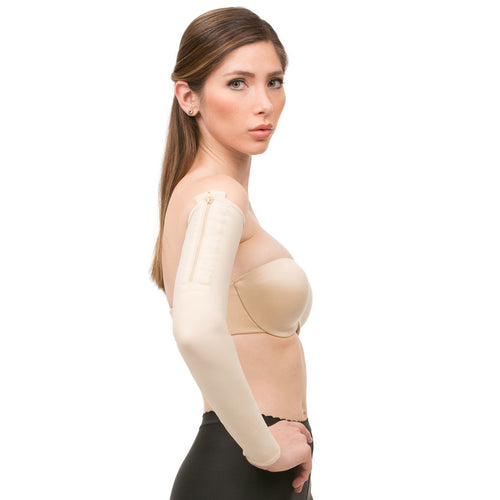 ISAVELA Compression Sleeves With Zippers (SL02)-Arm Sleeve-Isavela-XS-Black-PlasticSurgeryShop