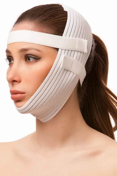 "ISAVELA Chin Strap Facial Surgery Compression Garment W/2-1"" Bands(FA05)"