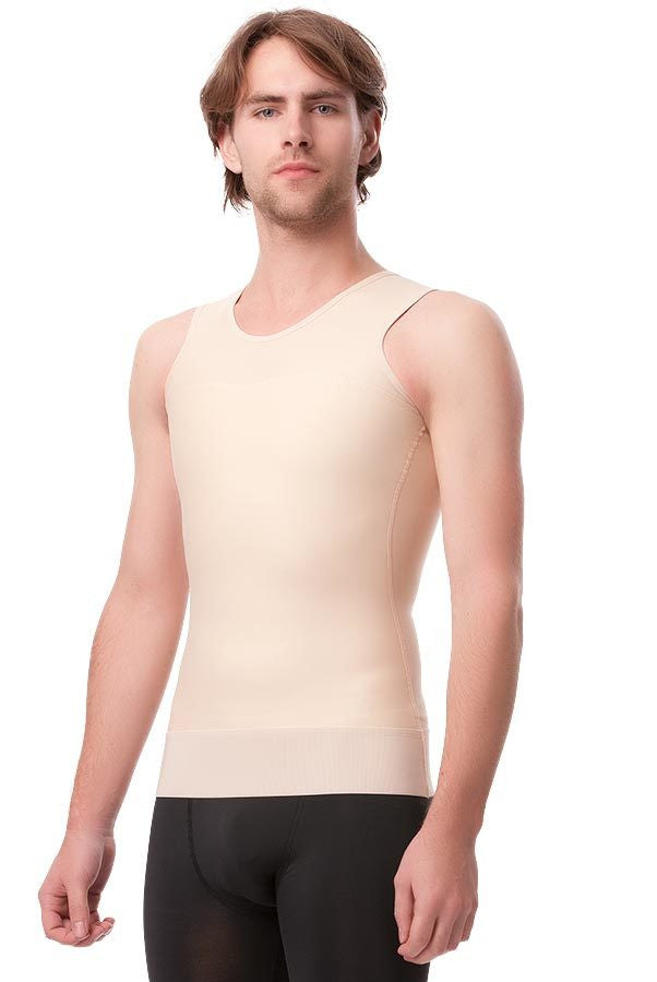 "2nd Stage Male Abdominal Cosmetic Surgery Compression Vest W/3"" Elastic Waist Band (MG05)"