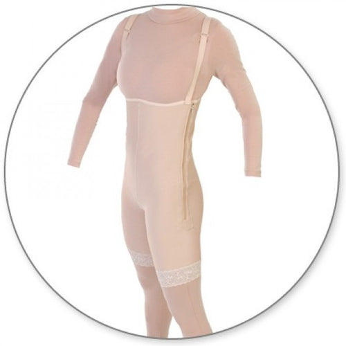 Contour MD Mid Thigh Body Garment Side Zippers Slit Crotch - Style 34Z