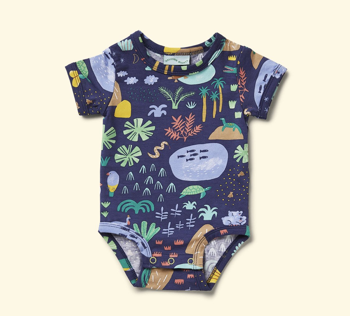Halcyon Nights Short Sleeve Bodysuit Gift Pack