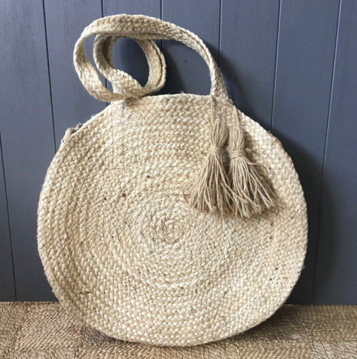 Braided Hemp Round Bag