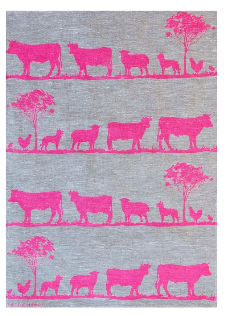 Paddock Linen Tea Towel