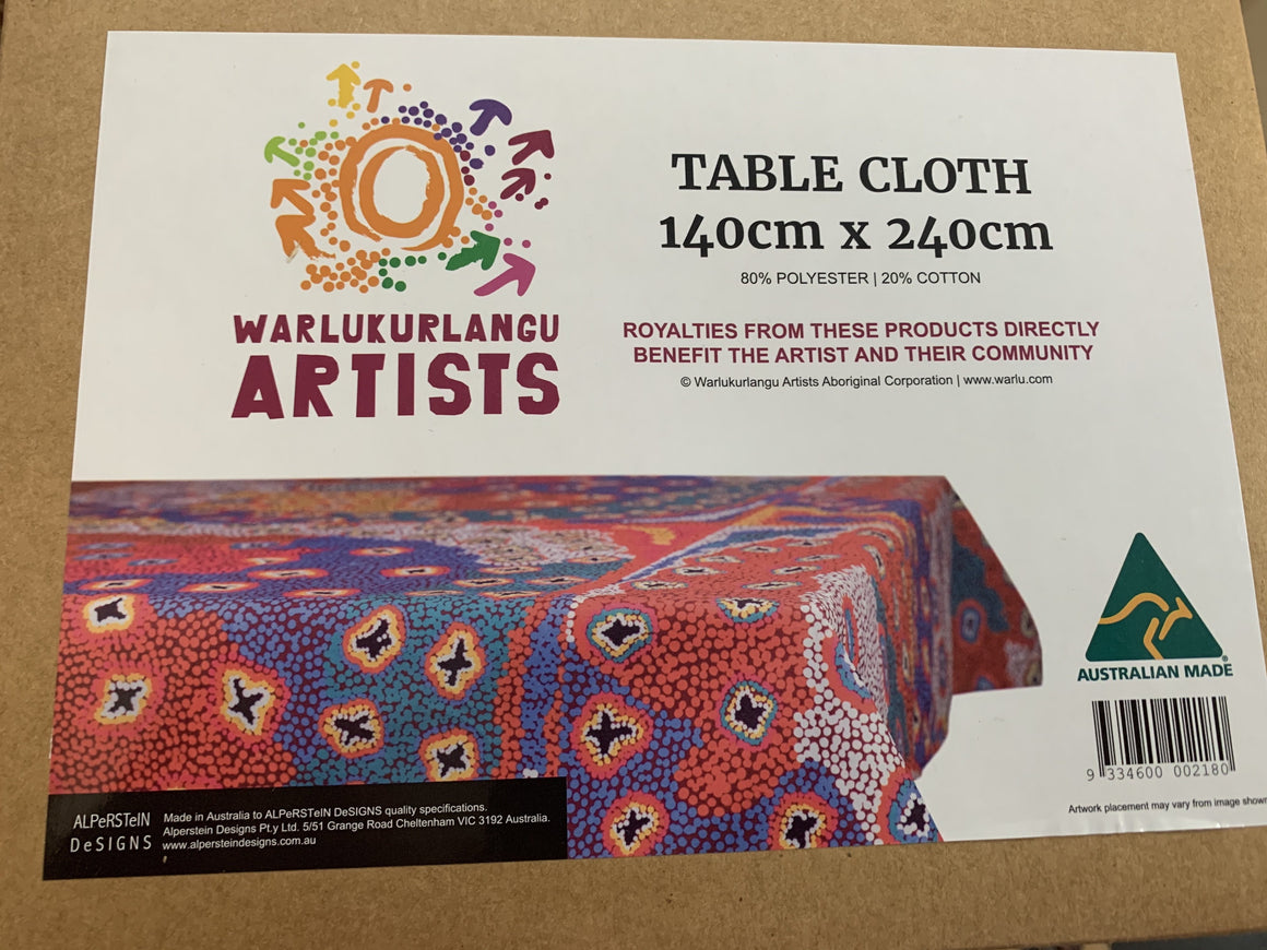 Warlukurlanga Artists Table Cloth