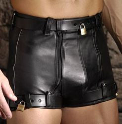 Strict Leather Chastity Shorts- 31 inch waist