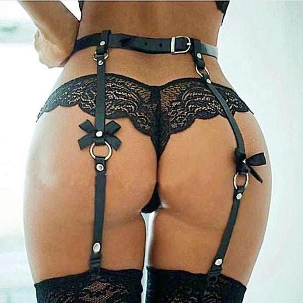 The Breeona - Small Bow Garter Belt