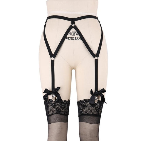 The Bo Peep - Bow Harness Garter