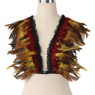Feather Harness Bra Top Rave Festival Wear