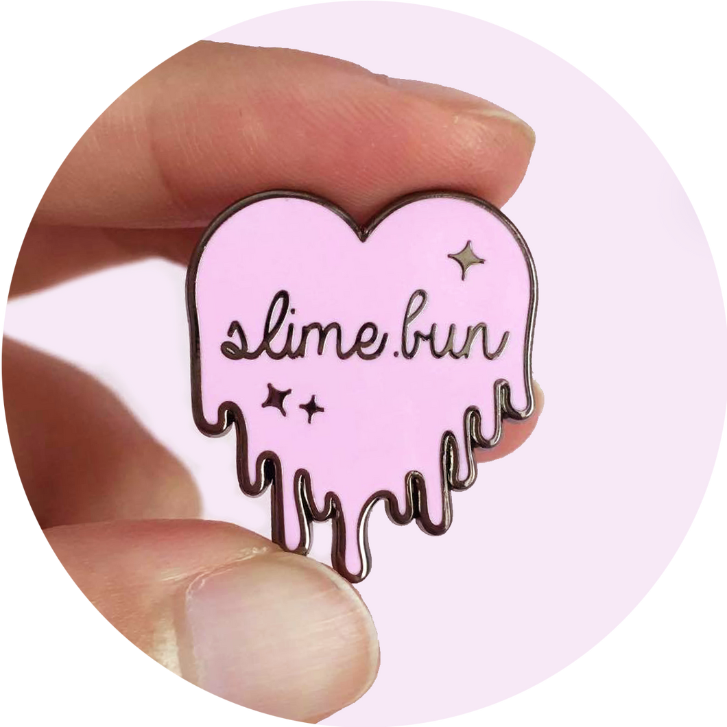 Dripping Slime Heart Pin