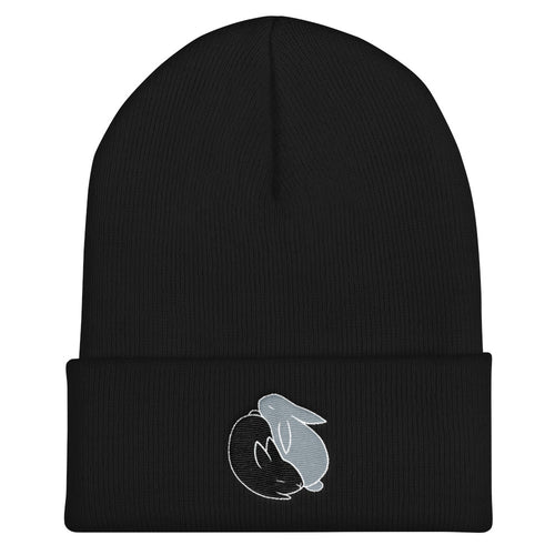 Bugsy & Louie Yin Yang Embroidered Beanie