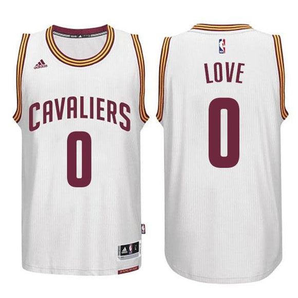 Cavaliers Kevin Love #0 White