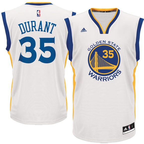 Warriors Kevin Durant #35 White