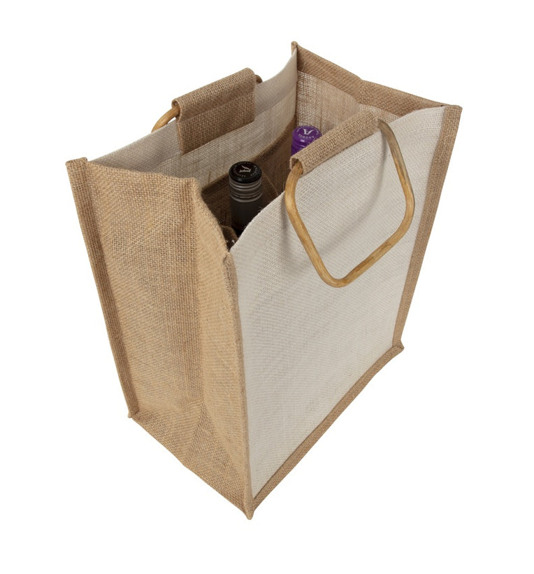 The Jute Wine Bottle Bags