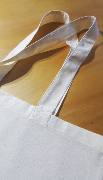 The Cotton Tote Bag handles