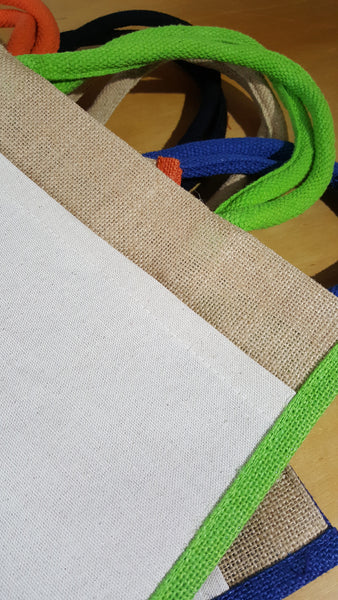 The Colour Hessian Shopper with a Pocket