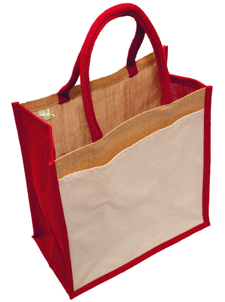The Colour Jute Shopper with a Pocket