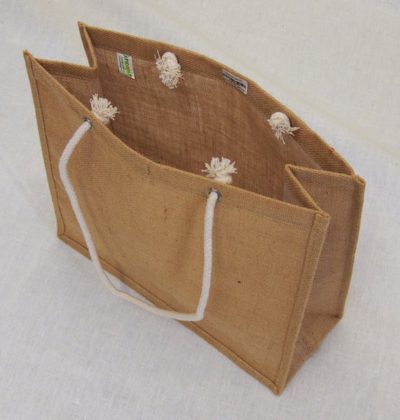 The Hessian Rope Handle Shopper