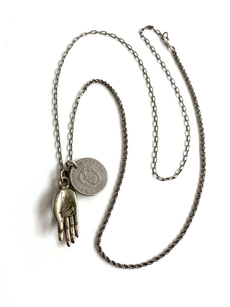 Mudra Hand Necklace