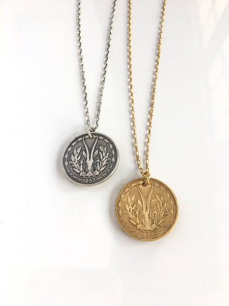 Gazella Cast Coin Necklace