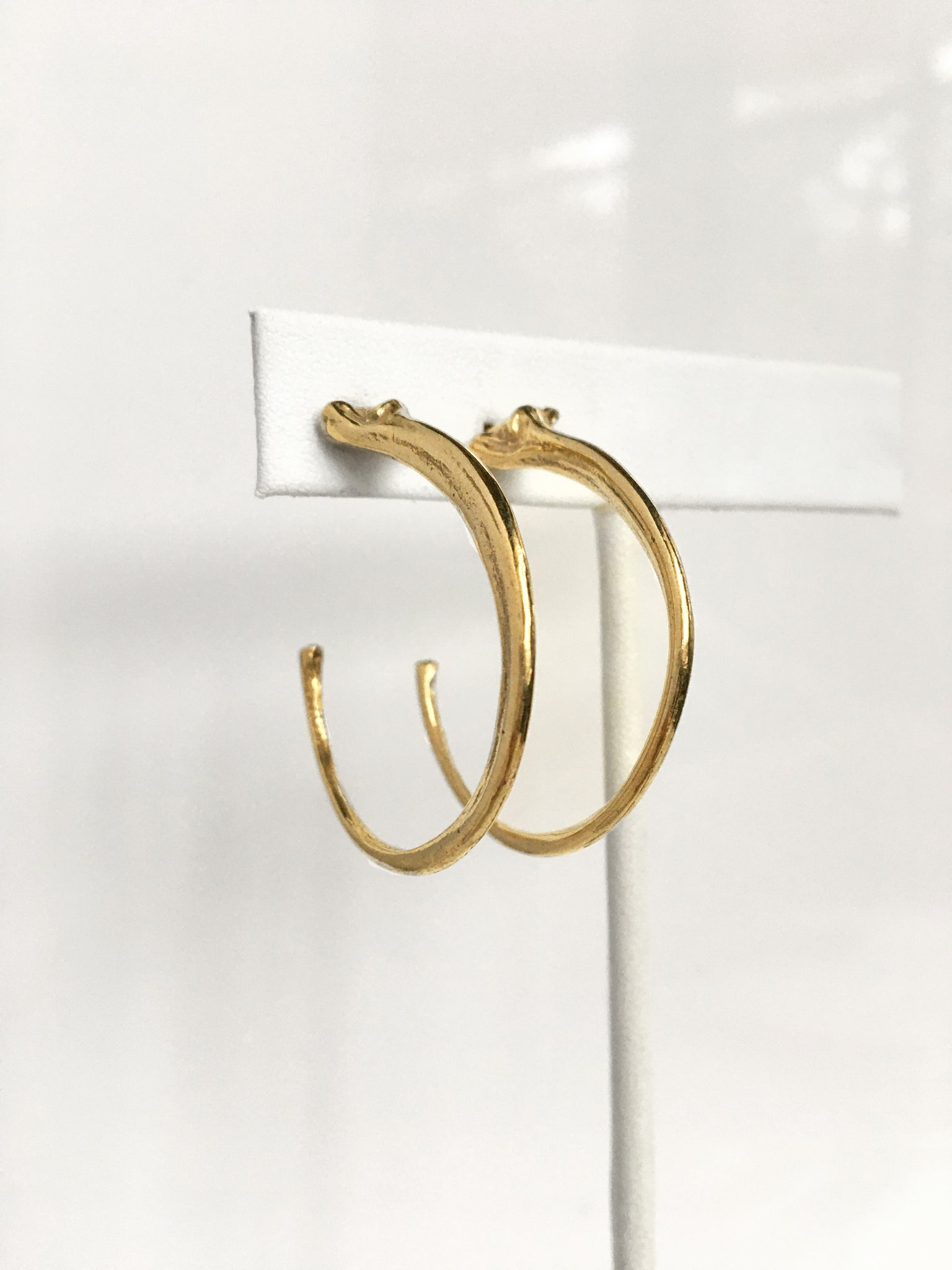 Snake Rib Hoop Earrings