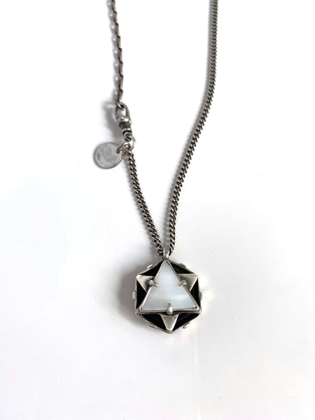 OOAK Double Sided Magen David Pendant Necklace