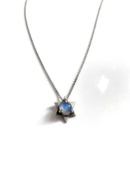 Moonstone Star of David Necklace *2 Available*