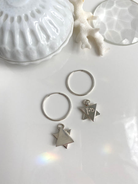 *Single* Endless Hoop with Star Charm
