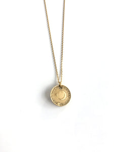 Turkish Moon Cast Coin Necklace