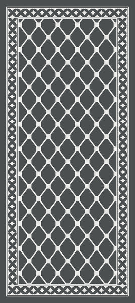 DM40 Ozzie Large Indoor Mat Grey 67cm x 150cm