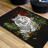 Animal Print Rug Tiger & Cub in Size 140cm x 190cm-Rugs 4 Less