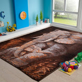 Animal Print Rug Elephant in Size 110cm x 160cm-Rugs 4 Less