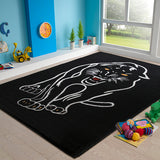 Animal Rug Panther 90x130cm-Rugs 4 Less