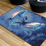 Animal Print Rug Dolphin in Size 110cm x 160cm-Rugs 4 Less