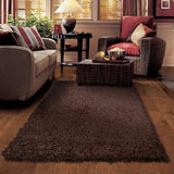 Astro Brown Shag Rug in Size 160cm x 230cm-Rugs 4 Less