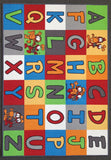 Alphabet Mat in Size 90cm x 130cm-Rugs 4 Less