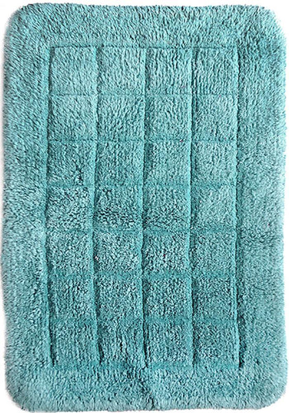 Cotton Bath Mat Aqua in Size 50cm x 75cm-Rugs 4 Less