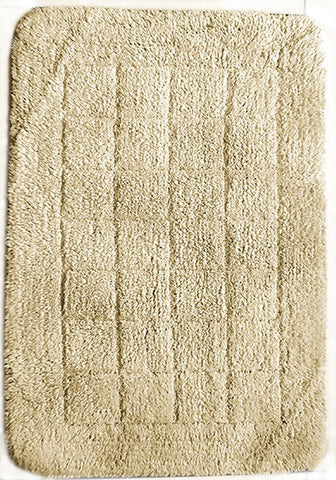 Cotton Bath Mat Ivory in Size 50cm x 75cm-Rugs 4 Less