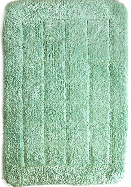 Cotton Bath Mat Light Green in Size 50cm x 75cm-Rugs 4 Less
