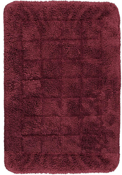 Cotton Bath Mat Red in Size 50cm x 75cm-Rugs 4 Less