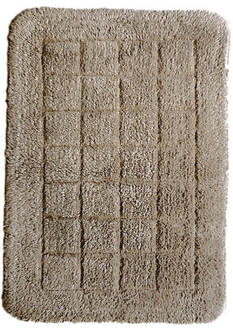 Cotton Bath Mat Taupe in Size 50cm x 75cm-Rugs 4 Less