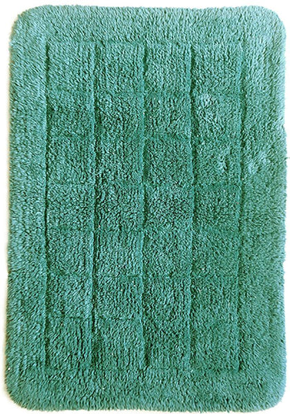 Cotton Bath Mat - Teal by Rugs4Less