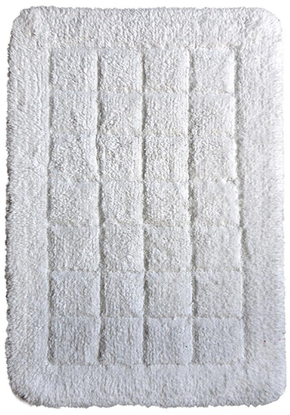 Cotton Bath Mat White in Size 50cm x 75cm-Rugs 4 Less