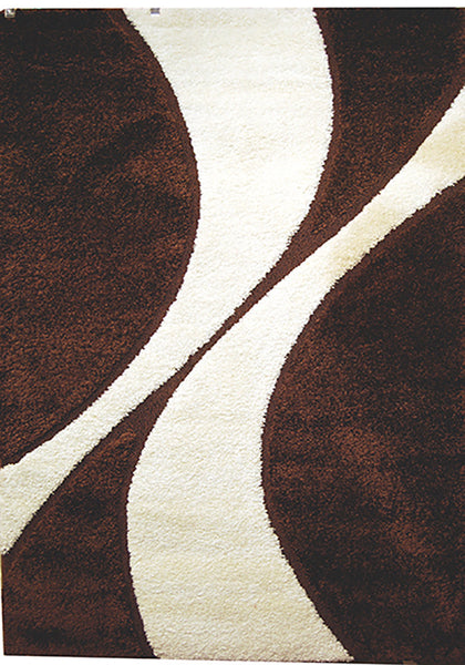 Bolero 9419A-ubx Dark Brown Extra Large Rug in Size 240cm x 340cm-Rugs 4 Less