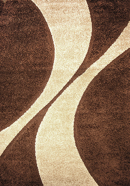 Bolero 9419C-ubx Dark Brown Large Rug in Size 200cm x 290cm-Rugs 4 Less