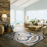 Cabana 891 Blue-Silver 160x230 - Rugs 4 Less