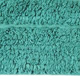 Cotton Bath Mat Teal in Size 50cm x 75cm-Rugs 4 Less