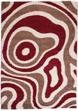 Cabana 891 Taupe-Red Rug in Size 160cm x 230cm-Rugs 4 Less