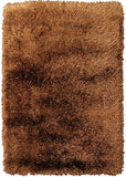 Desire Copper Small Shag Rug in Size 110cm x 160cm-Rugs 4 Less