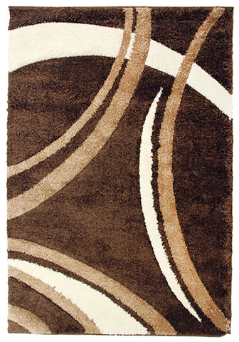 Diva 2163 Brown Modern Rug in Size 160cm x 230cm-Rugs 4 Less